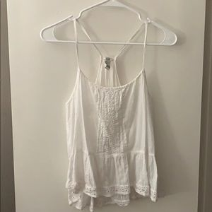 Forever 21 white pleated cami